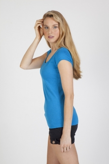 T938LD Ladies Crew Neck Marl Tee