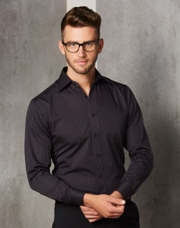 M7132 Men's Dobby Stripe Shirt SS