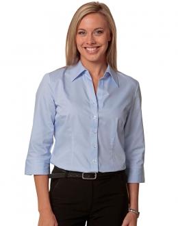 M8030Q Ladies Fine Twill Shirt 3/4 Sleeve