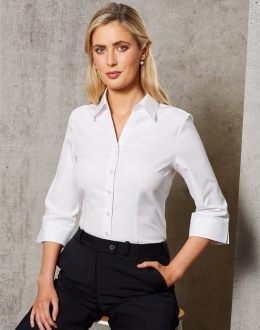 M8040Q Ladies CVC Oxford Shirt SS