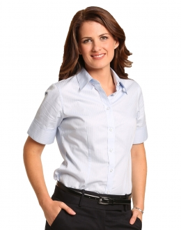 M8100S Ladies Self Stripe Shirt SS