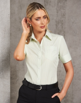 M8234 Ladies S/S Balance Stripe Shirt