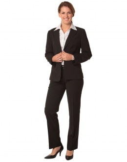 M9430 Ladies Poly/Viscose Stretch Stripe Low Rise Pants