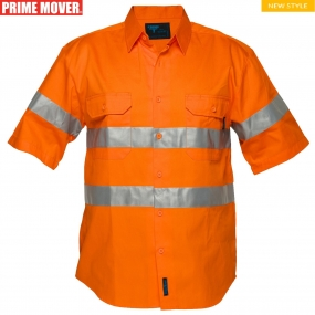 MA192 Hi-Vis Regular Weight Short Sleeve Shirt with Tape