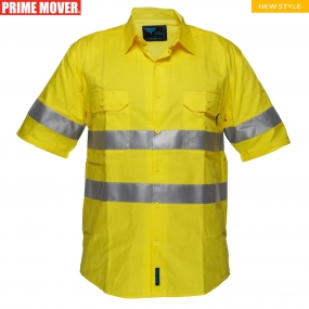 MA302 Hi-Vis Lightweight Short Sleeve Shirt with Tape
