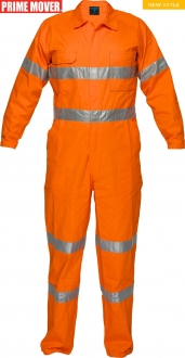 MA922 Lightweight Orange Coveralls with Tape