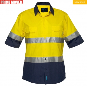 MA 802 Hi-Vis Two Tone Lightweight Short Sleeve Shirt with Tape