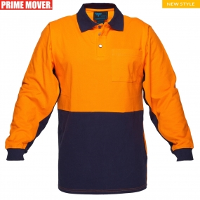 MD619 Long Sleeve Cotton Pique Polo