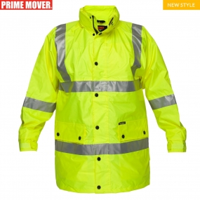 MF306 Full Hi-Vis Rain Jacket with Tape
