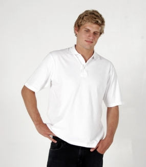 Mens 100% Cotton Jersey Polo