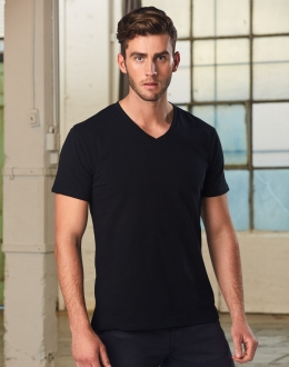 Mens Short Sleeve VNeck Tee