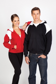 Mens Shoulder Contrast Panel Hoodie