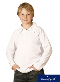 Kids TrueDry L/S Cricket Polo