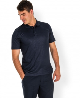 7CYP Podium Cotton Back Yardage Polo