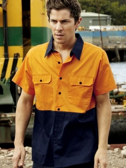 SS1012 Hi Vis Cotton Twill Shirt Short Sleeve
