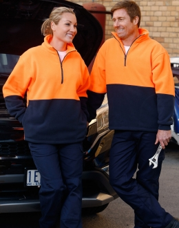 SW07 HiVis Polar Fleece Half Zip Pullover