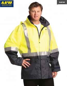 SW18AL HiVis Safety Jacket Mesh Lining Reflective Tape Unisex Larger