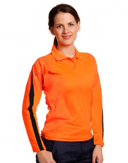 SW34A Ladies HiVis Legend L/S Polo