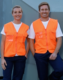 SW41 Unisex Hi-Vis Safety Vest With ID Pocket