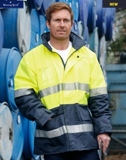 SW50L HiVis Polar Fleece Long Line Jacket