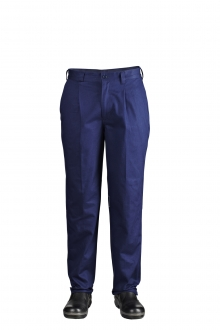 Single Pleat Cotton Drill Trouser with back Pocket