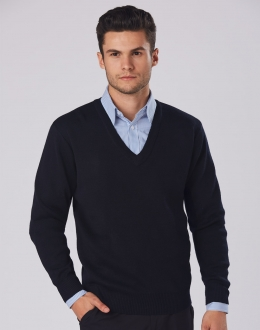 WJ01 VNeck Wool Acrylic Knit Jumper