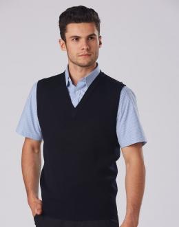 WJ02 VNeck Wool/ Acrylic Knit Vest