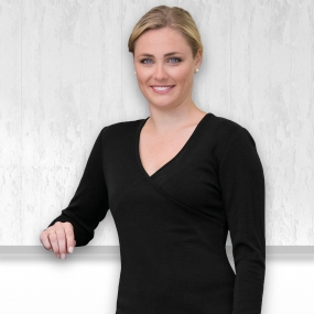Womens Merino Crossover Top