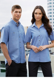 Wrinkle Free S/S Chambray Shirt