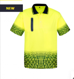 ZH300 Hi Vis Tracks Polo Mens