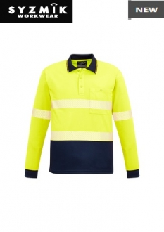 ZH530 Unisex HiVis Segmented Polo L/S Hoop Taped