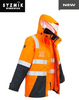 ZJ532 Mens HiVis 4 in 1 Waterproof Jacket