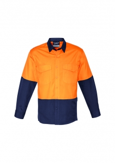 ZW128 Unisex Hi-Vis Spliced Rugged Shirt