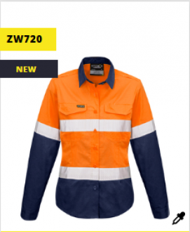 ZW720 Rugged Cooling Taped Hi Vis Spliced Shirt Womens