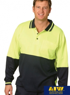 HiVis TrueDry Safety L/S Polo